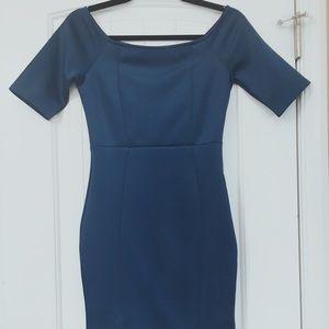 Midi Teal Bodycon Dress